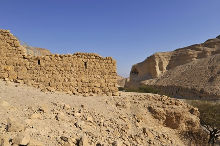 Ancient remains of Zohar fortress in Judea desert. Stock Photo - 13089497