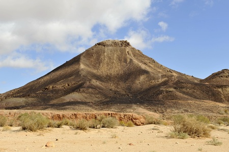 Volcanic hill in Ramon Crater, Negev  Stock Photo