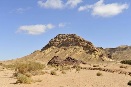 Mountain landscape in Negev desert