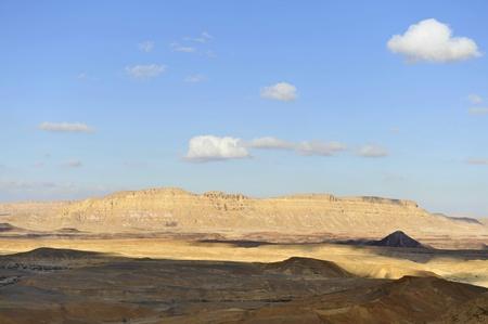 negev: Crater Ramon landscape in Negev desert