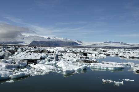 Jokulsarlon ice lagoon, Iceland. photo