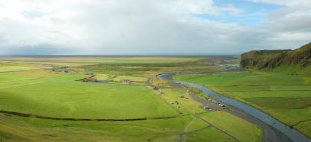 Icelandic landscape near Skogafoss.