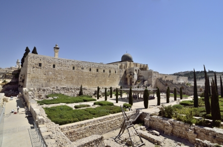 Archeological site near Western Wall in Old City of Jerusalem, Israel Stock Photo - 16294007
