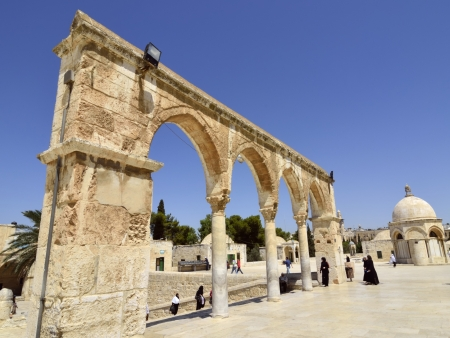 Old colonnade of Temple Mount entry, Jerusalem