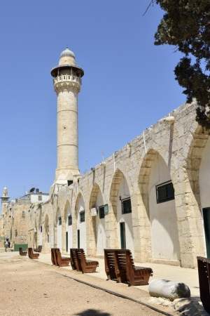 Ancient mosque spire on Temple Mount in Jerusalem, Israel. Stock Photo - 16426410
