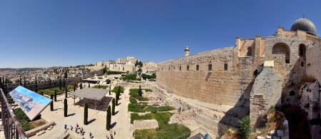 Panoramic view near Old City of Jerusalem, Israel. Stock Photo - 16507136