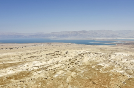 masada: Dead Sea view from Masada, lowest place on the earth.