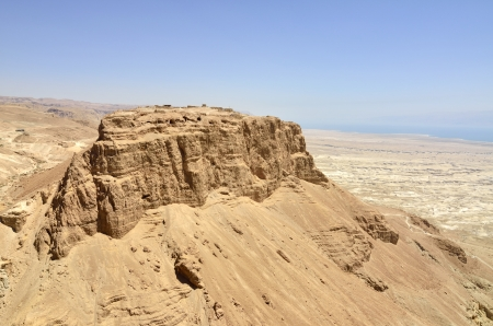 Masada stronghold in Judea desert near Dead Sea, Israel.
