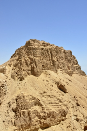 Scenic view of Masada fortress in Judea desert near Dead Sea, Israel. Stock Photo - 17080808