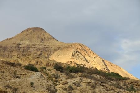judea: Ein Gedi mountain landscape in Judea desert, Israel. Stock Photo