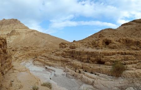 judea: Ein Gedi barren landscape in Judea desert, Israel. Stock Photo