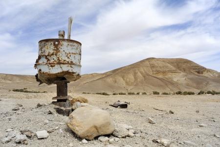 judea: Trash leavings in Judea desert, Israel