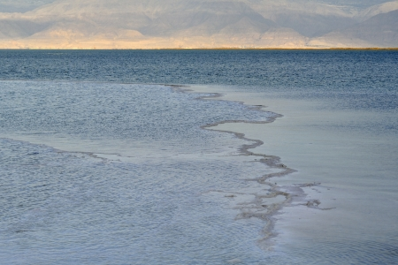 Ripple water surface of Dead sea at the evening, Israel. photo