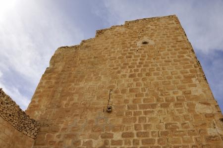 impregnable: Ancient walls of Saint Sabbas monastery, Israel. Stock Photo