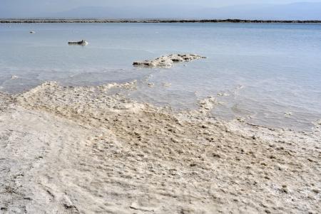 salt crystal: Salt crystal formations at Dead sea coast in Israel. Stock Photo