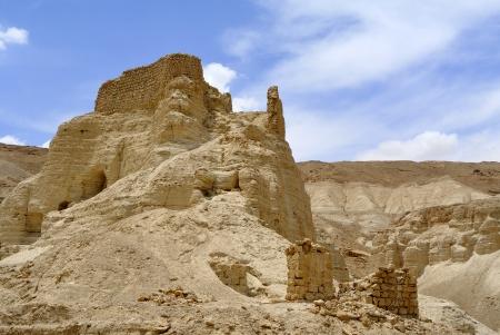 judea: Ancient ruins of Zohar fortress in Judea desert, Israel. Stock Photo