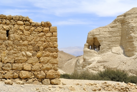 Ancient ruins of Zohar fortress in Judea desert, Israel. Stock Photo