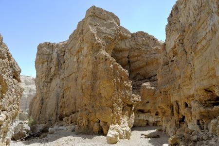 judea: Zohar ravine in Judea desert near Dead Sea in Israel
