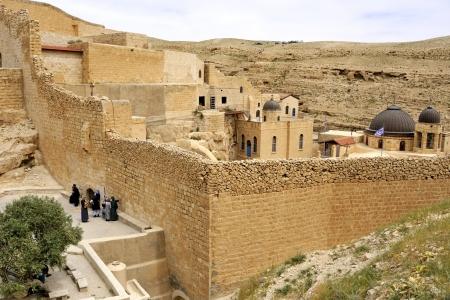 judea: Saint Sabbas monastery in Judea desert, Israel