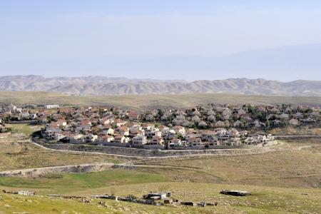 New Jewish settlement in Judea desert near Jerusalem  Stock Photo