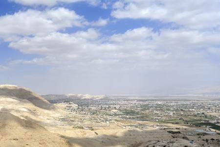 judea: Jeri  1089;ho city view from Judea desert mountains