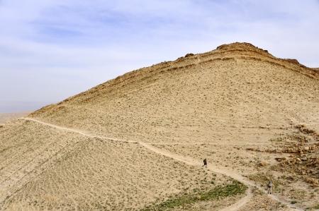 judea: Trek in Judea desert near Jerusalem, Israel