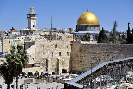 Kotel and Dome of the Rock mousque, Jerusalem