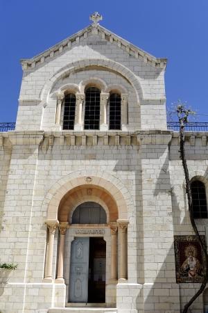 catholic chapel: Polish Catholic Chapel on via Dolorosa Third station, Jerusalem Stock Photo
