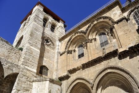 Byzantine facade of Holy Sepulchre Church in Jerusalem Stock Photo - 22142285
