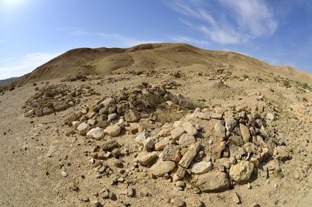negev: Stone bedouin graves in Negev desert, Israel