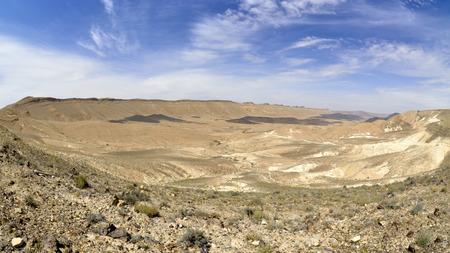 negev: Ramon Crater scenic landscape in Negev desert  Stock Photo