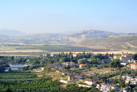 Metula lookout view near Lebanon border in Israel  photo