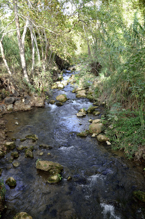 banias: Hermon stream in Banias National park on the North of Israel. Stock Photo