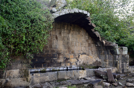 the golan heights: Big Arche ruins in Umm el Kanatir, Golan Heights in Israel