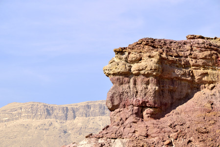 negev: Red cliff in Makhtesh Katan, Negev desert in Israel.