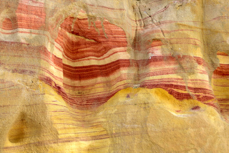 negev: Colored sandstone rock in Negev desert, Israel.