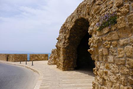 tourist site: Tourist site of old Akko city in Israel.