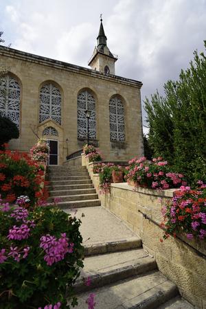 visitation: Entrance to the Visitation Church, Ein Kerem near  Jerusalem, Israel