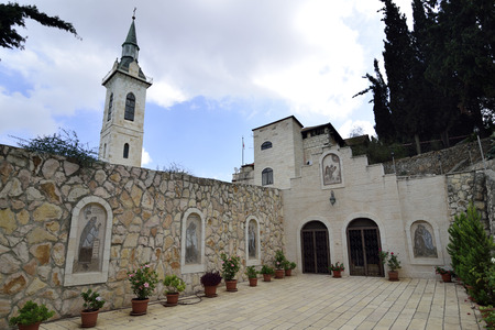 visitation: Visitation Church inner yard, Ein Kerem near Jerusalem, Israel