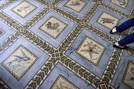visitation: Floor decorations of Visitation Church in Ein Kerem near Jerusalem, Israel Editorial