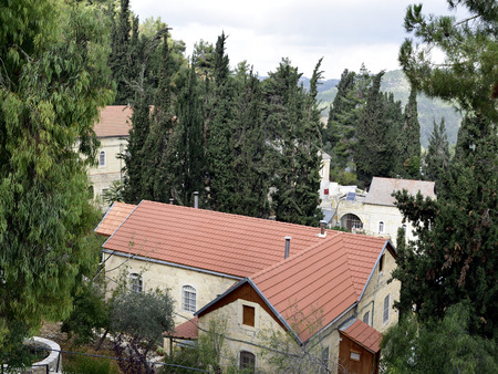Compound of Gorny Russian Orthodox convent in Ein Kerem, near Jerusalem in Israel.