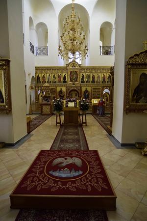 ein: Sanctuary interior of Gorny Convent church in Ein Kerem near Jerusalem, Israel