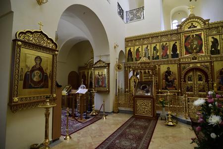 temple: Sanctuary interior of Gorny Convent church in Ein Kerem near Jerusalem, Israel
