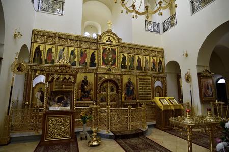 Sanctuary interior of Gorny Convent church in Ein Kerem near Jerusalem, Israel