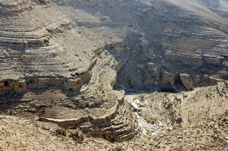 judea: Dry canyon of wadi Og in Judea desert in Israel.