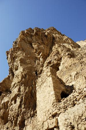 judea: Ancient construction remains in Judea desert, Israel Stock Photo