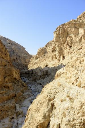 judea: Deep gorge of wadi Og in Judea desert, Israel