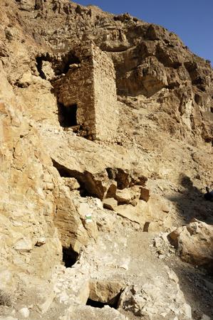 judea: Ancient ruins in wadi Og, Judea desert in Israel.