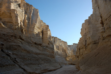 negev: Narrow gorge in Negev desert, Israel.