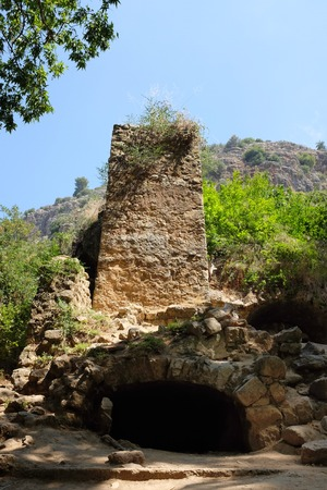 nahal: Ruined mill in Nahal Amud National park, Upper Galilee in Israel.